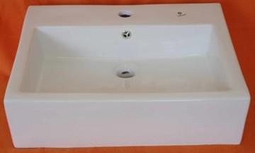 Keramické umyvadlo B-329, bílé, 57x47x16