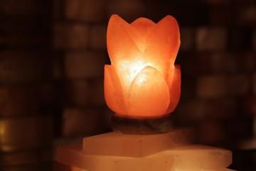 Solná lampa Lotosový květ
