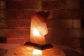 Solná lampa Kůň