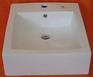 Keramické umyvadlo B-355, bílé, 41x43x15
