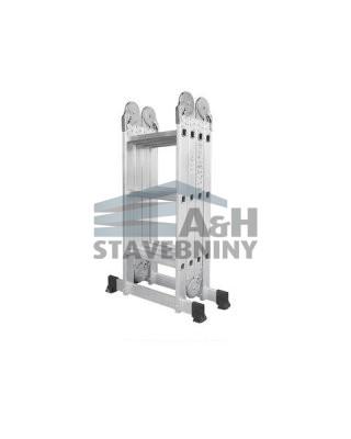 Hliníkové štafle WG607-370 4x3-3,7m multifunkční