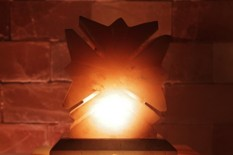 Solná lampa Javorový list