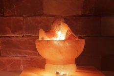 Solná lampa Ohnivá nádoba malá