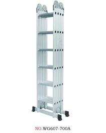 Hliníkové štafle WG607-700A 4x6-7m multifunkční