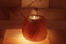 Solný svícen Přírodní neopracovaný kámen